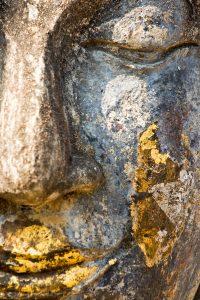 Buddha face, Sukhothai, Thailand.